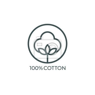 Bild 100% cotton icon. Vector illustration