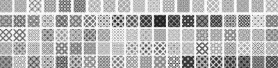 Bild 100 Universal different geometric seamless patterns. Endless vector texture can be used for wrapping wallpaper, pattern fills, web background,surface textures. Set of monochrome ornaments