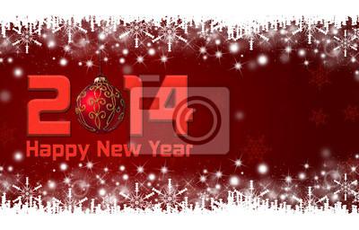 2014 Frohes Neues Jahr Hintergrund