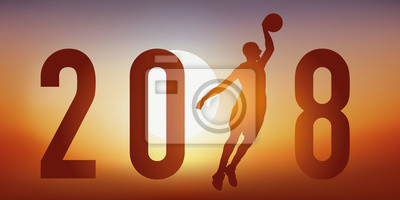 2018 - basket - basketball - carte de vœux - présentation