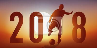 2018 - fußball - carte de vœux - présentation - coupe du monde - compétition