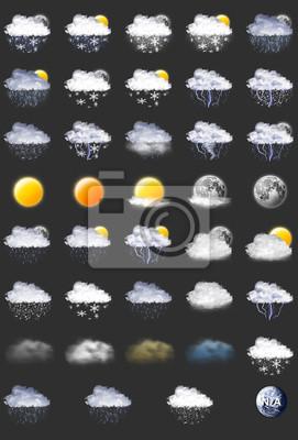 Bild 39 Wettervorhersage Icons Set