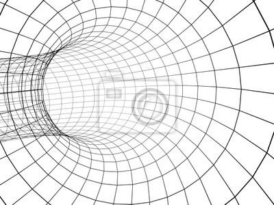 3d abstrakt Tunnel aus einem Raster