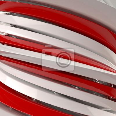 Bild 3D abstrakten Hintergrund von roten und weißen Formen