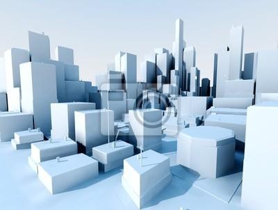 Bild 3D-Bild der Stadt