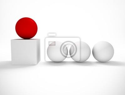 3D-Bild von Konzept für den Erfolg
