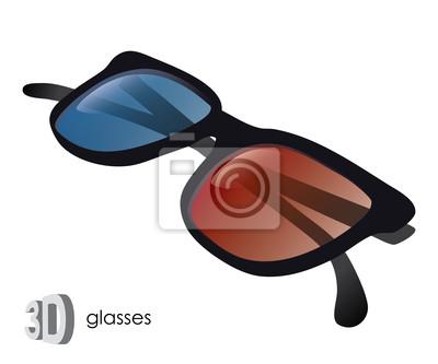 3D-Brille - Vektor-Illustration