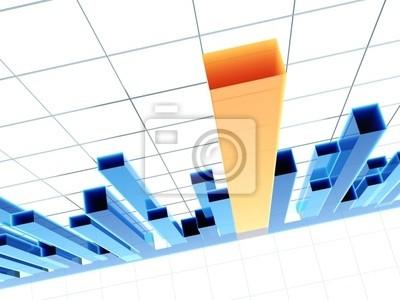 3D Diagramm, zeigt positive Ergebnisse