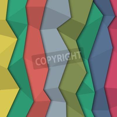Bild 3d farbigen Papier Hintergrund - Origami-Stil.