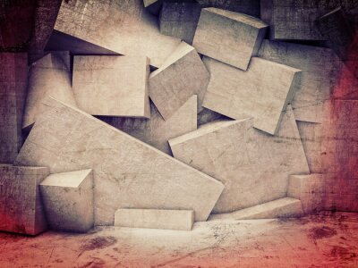 Bild 3D geometrische Wand