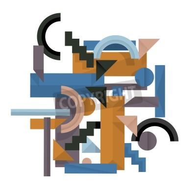 Bild 3D geometrischen Hintergrund im Kubismus-Stil
