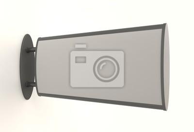Bild 3D gerenderten Stadtlicht an der Wand .. Anzeigen Leuchtkasten. Mock-up-Vorlage für Ihr Design.