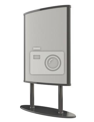 Bild 3D gerenderten Stadtlicht. Anzeige Leuchtkasten. Mock-up-Vorlage für Ihr Design.