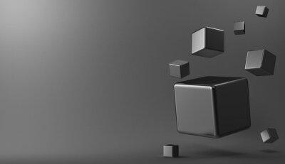 Bild 3d hintergrund metallwürfel