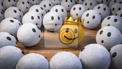 Bild 3D Illustration der König und die Staunenden