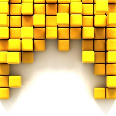 Bild 3d illustration of yellow cubes