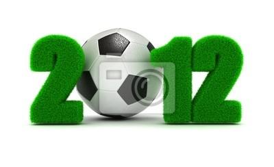 3D Konzept Meisterschaft von Europa auf Fußball 2012
