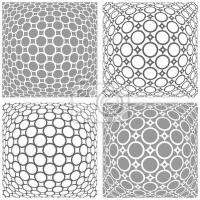 3D-Muster eingestellt. Abstrakte konvexe geometrische Hintergründe.