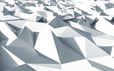 Bild 3D-Polygon beau cristaux fond texture blanc