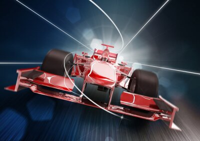 Bild 3d render, formula one car concept