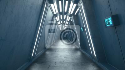Bild 3d render. Futuristic interior concept architecture