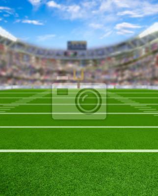 3D Rendered Football Stadium mit Kopie Raum