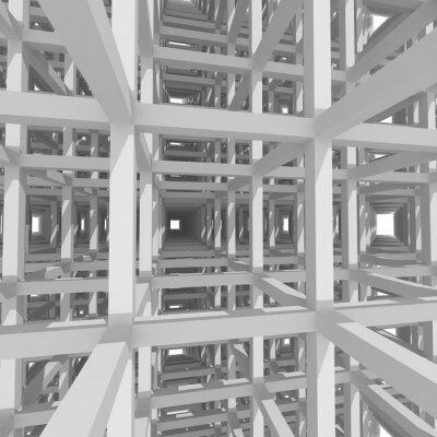 Bild 3D-Säulen und Balken, Architektur Hintergrund.