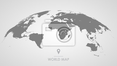 Bild 3d silhouette of a global world map, sphere with continents and islands of the world monochrome vector illustration