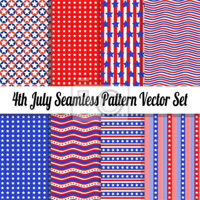 4. Juli Seamless Pattern Vector Pack