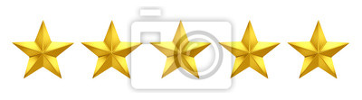 Bild 5 out of 5 stars rating. Five golden stars
