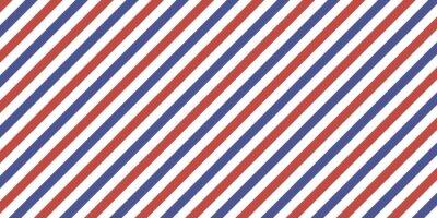 Bild 7507822 Classic retro background diagonal stripes red blue color, vector color stripes flag, airmail
