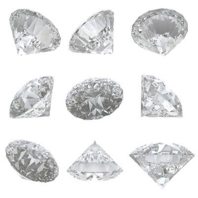 Bild 9 Diamanten auf weißem Hintergrund - Clipping-Pfad