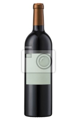 Bild A bottle of red wine, isolated on white with clipping path.