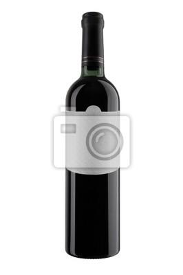 Bild A bottle of red wine, isolated on white. XXXL.
