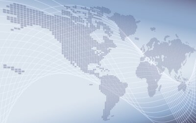 Bild A world map background global business or technology abstract concept