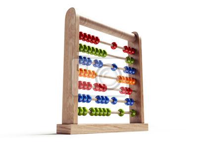 Abacus isoliert mit Beschneidungspfad