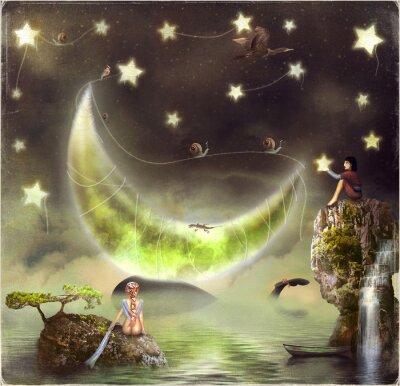 Abbildung zeigt die Märcheninsel am Himmel