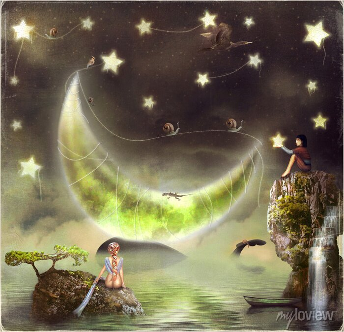 Bild Abbildung zeigt die Märcheninsel am Himmel