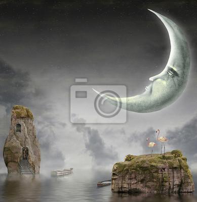 Abbildung zeigt Mond im Himmel