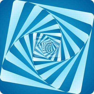 abgerundetes Quadrat Spiralwirbel