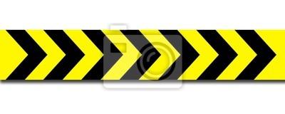 Super Absperrband gelb schwarz leinwandbilder • bilder verbarrikadieren ZF63