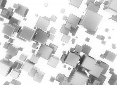 Bild Abstract 3d digital cubesisolated auf weißem Hintergrund