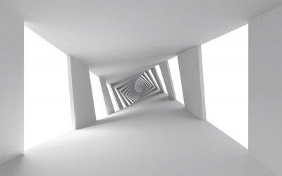 Bild Abstract 3d Hintergrund mit weißen verdrehten Spiralkorridor