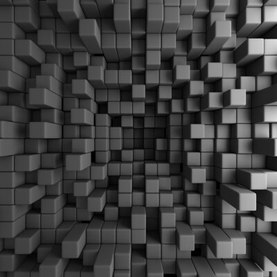 Bild Abstract 3D Würfel Blocks Tapeten-Hintergrund