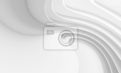 Bild Abstract Architecture Background. White Circular Building