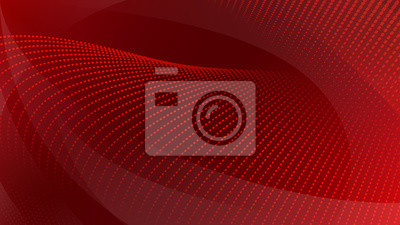 Bild Abstract background of curved surfaces and halftone dots in red colors