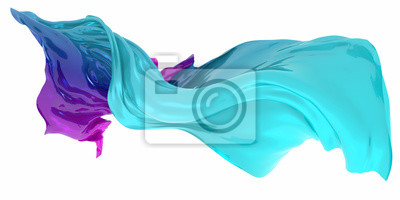 Bild Abstract background of multicolored wavy shape. 3d rendering image.