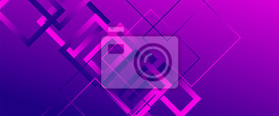 Bild Abstract background with simple square or rectangle geometrical shapes. Geometric template with fluid gradients. Line design, technology concept. Vector Illustration For Wallpaper, Banner Background