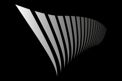 Abstract black background. Lines in diminishing perspective.