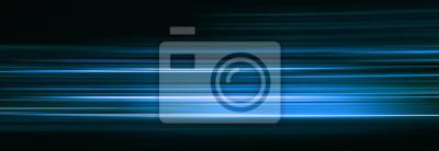 Bild Abstract blue light trails in the dark, motion blur effect